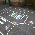 Removing Old Playground Markings in Abertridwr 4