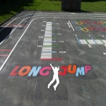 Removing Old Playground Markings in Larne 3