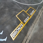 Removing Old Playground Markings in Larne 4