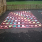 Removing Old Playground Markings in Larne 6