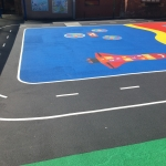 Netball Sports Markings in Appleton Roebuck 3