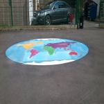 Removing Old Playground Markings in Ashton Vale 12