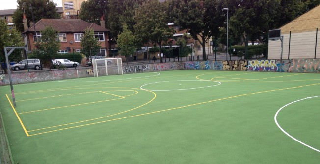 MUGA Basketball Surfacing in Ashford Bowdler