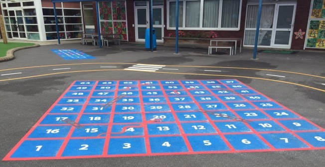 Thermoplastic Number Grids in West Dunbartonshire