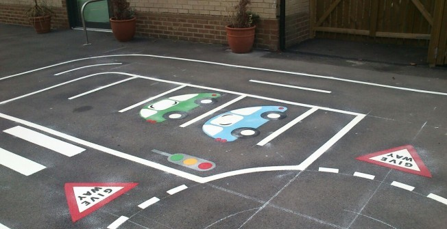 School Thermoplastic Line Markings