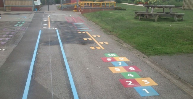 Removing School Play Lines in Alderbury