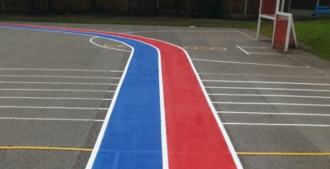 Thermoplastic Painted Trail