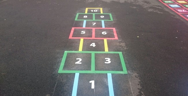 Colourful Hopscotch in Abbey Gate