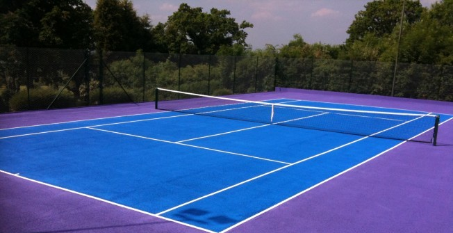Tennis Court Line Marking Specialists in Aberffrwd