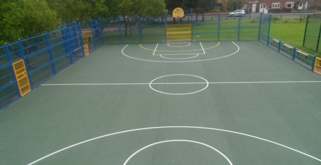 Schools Basketball Line Marking in Andoversford