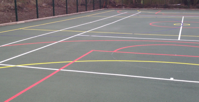 Coloured Sports Lines in Abington Vale